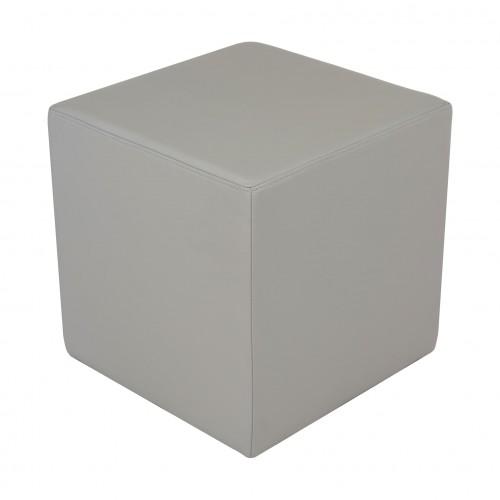 Puff Cubo em couro Grigio (Premium)