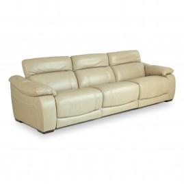 Sofá Reclinável Elétrico Corby U076 com 3 lugares em couro Legítimo - Idea Relax