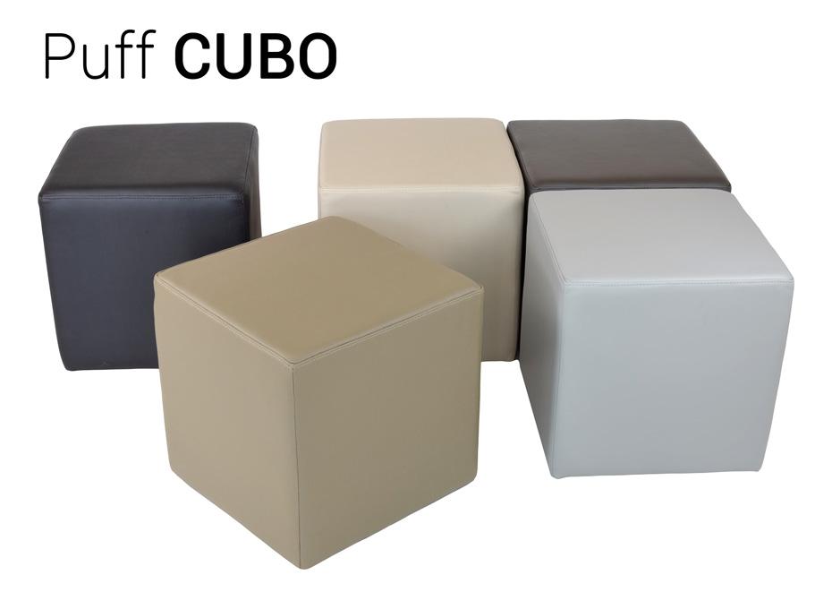 Puffs cubo em couro
